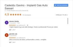 recensione gas auto sassari