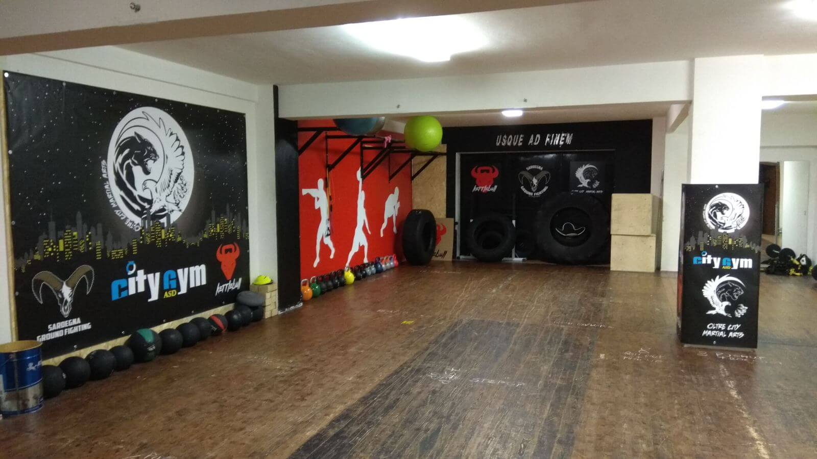 interni della palestra city gym