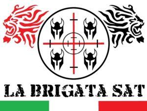 logo la brigata softair Sassari con bandiera italiana