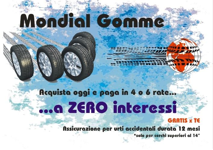 promozione pneumatici mondial gomme