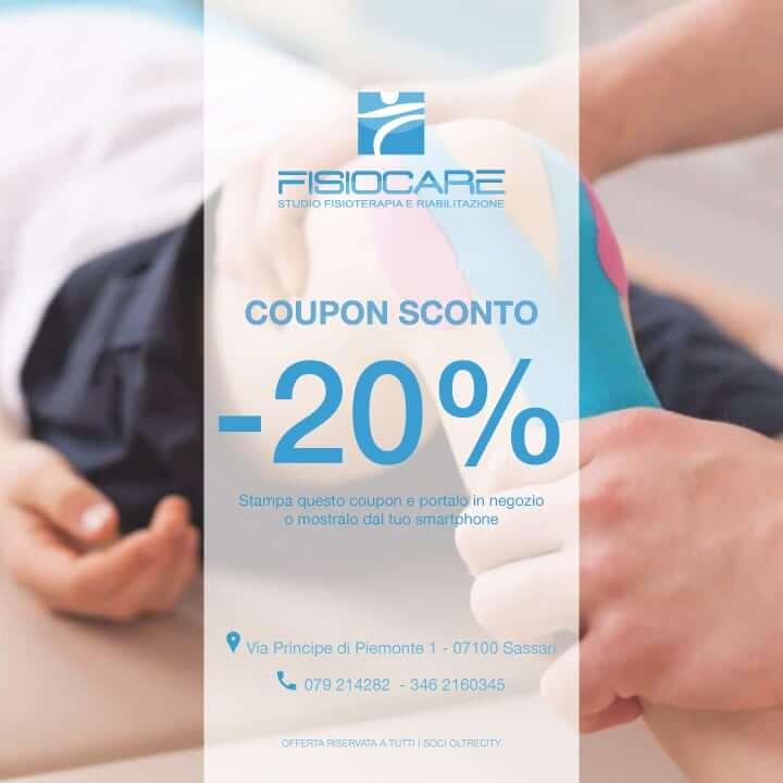 Coupon sconto 20% Fisiocare 01